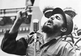 Fidel Castro, durante un discurso en La Habana en 1959. (Foto Prensa Libre: AP)