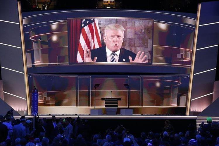 Republicanos festejan la formal nominación de Donald Trump para competir por la presidencia de EE. UU. (Foto Prensa Libre: EFE).