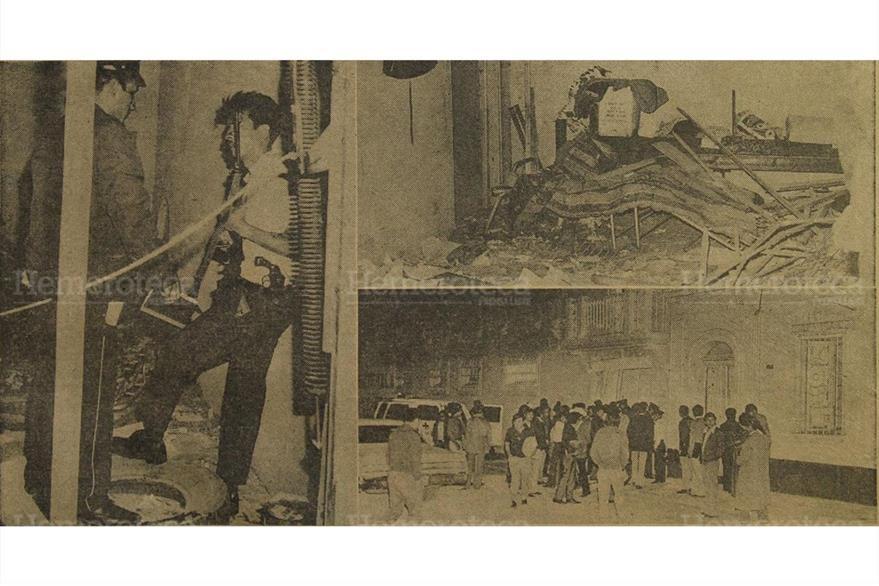 10/04/1974 Bomba estalló en la Central Aranista con resultado de un herido. (Foto:Hemeroteca PL)