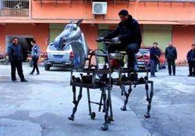 <p>Su Daocheng construyó un caballo robot. (Foto Prensa Libre: Rex features)<br></p>