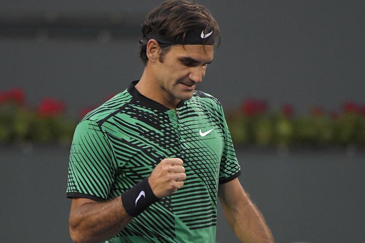 El suizo Roger Federer se medirá al español Rafael Nadal mañana en Indian Wells. (Foto Prensa Libre: AP)