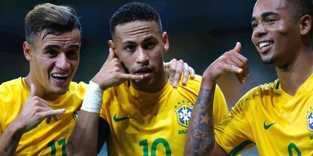 Brasil vence 3,0 a Argentina y se afianza como líder