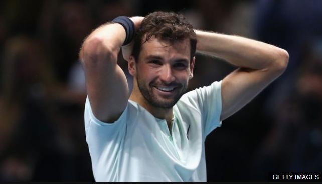 Dimitrov consiguió a sus 26 años el título más importante de su carrera, la final del circuito ATP. (Foto Prensa Libre: BBC Mundo)