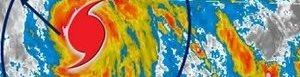 Imagen satelital del huracán.