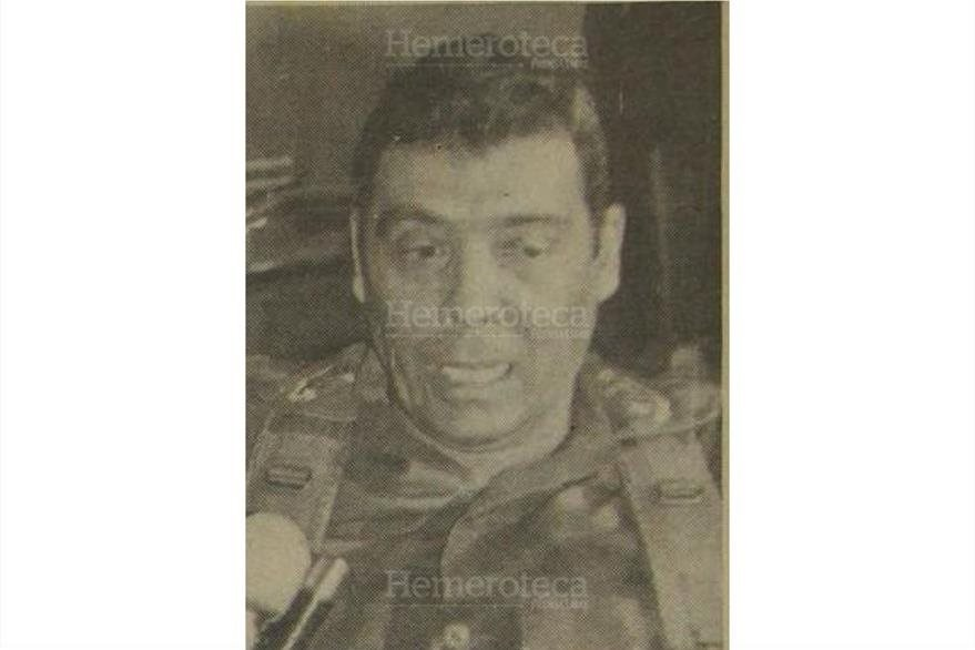 Benedicto Lucas fue uno de los dos candidatos militares en 1990. (Foto: Hemeroteca PL)