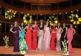 Las candidatas a Señorita Quetzaltenango fueron presentadas el lunes último. (Foto Prensa Libre: María José Longo)