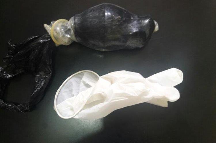 La supuesta granada que intentó ingresar la mujer a la Granja de Rehabilitación Canadá. (Foto Prensa Libre: PNC)