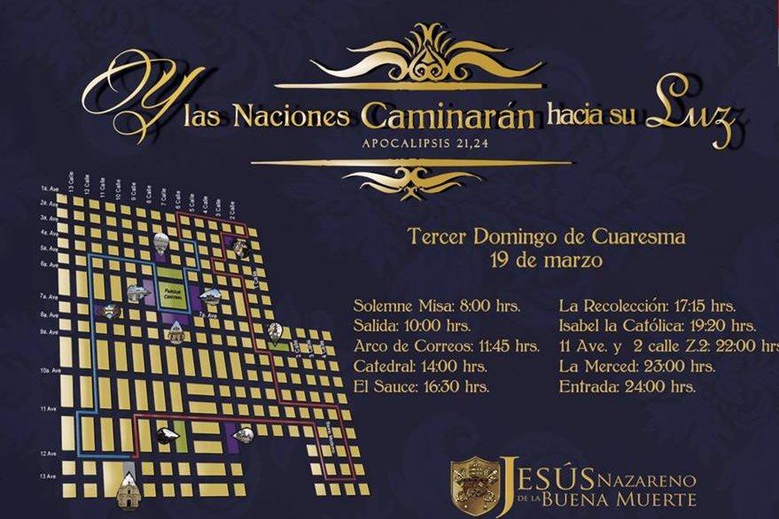 Procesión de Jesús Nazareno de la Buena Muerte de Santo Domingo, 19 de marzo de 2017. (Foto: Hemeroteca PL)