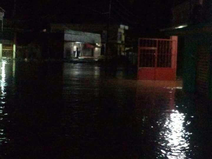 El centro del municipio es la parte más afectada hasta ahora.