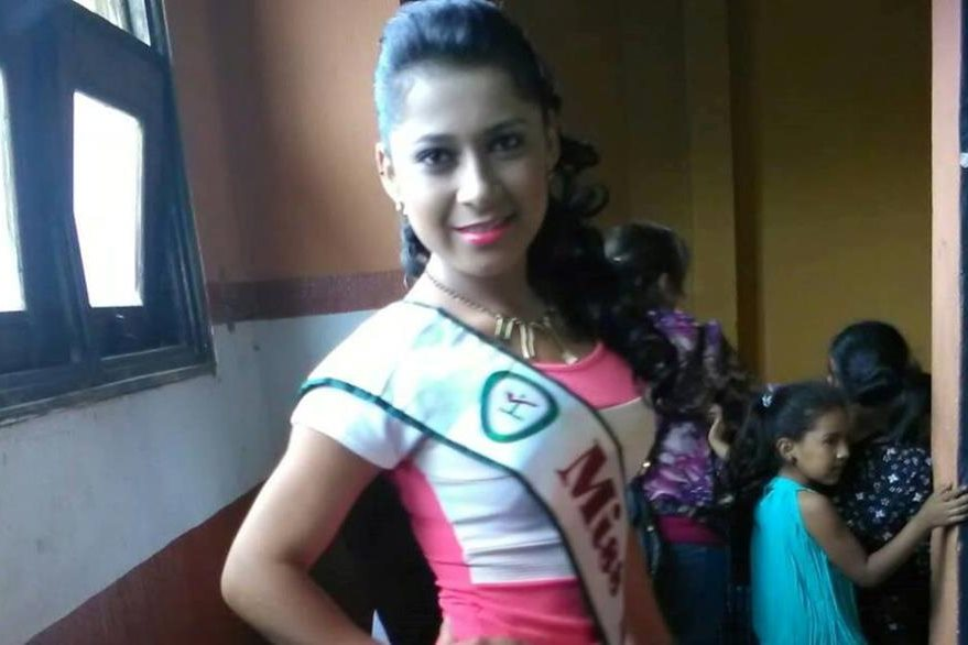 Jennifer Folgar, quien quedó fuera del certamen Miss Teen Cobán.(Foto Prensa Libre: Colaboración)