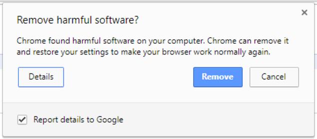 La actualización de Chrome le permite detectar automáticamente software malicioso y eliminarlo. (Foto Prensa Libre: Gizmodo).