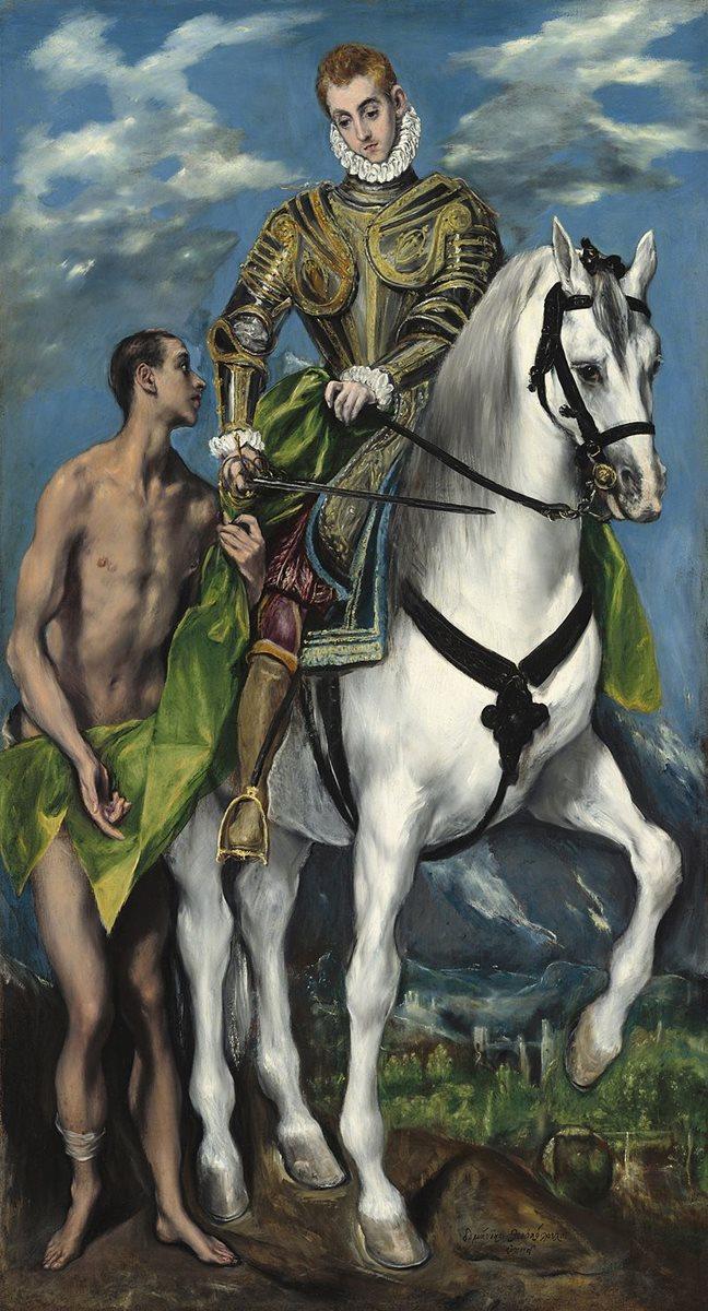 San Martín de Tours y el mendigo, obra de El Greco. (Foto Prensa Libre: internet)