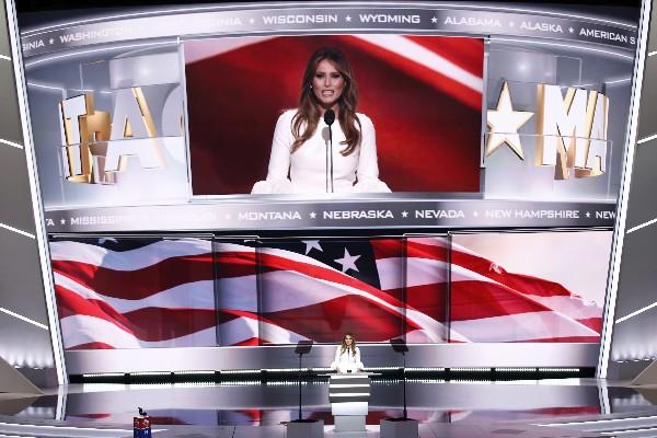 Melania Trump, habla en la apertura de la Convención Republicana. (EFE).