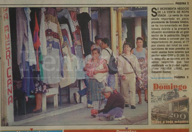 Detalle de la portada de Prensa Libre del 15 de junio de 1997 destacaba el auge de las pacas. (Foto: Hemeroteca PL)