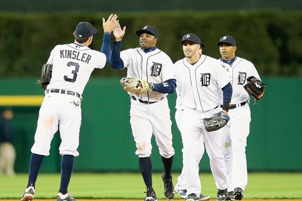 Los Tigres de Detroit vencieron a los Yanquis. (Foto Prensa Libre: AFP).