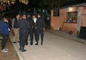 Lugar donde murió baleado Santiago Colindres Nova, en Izabal. (Foto Prensa Libre: Dony Stewart).