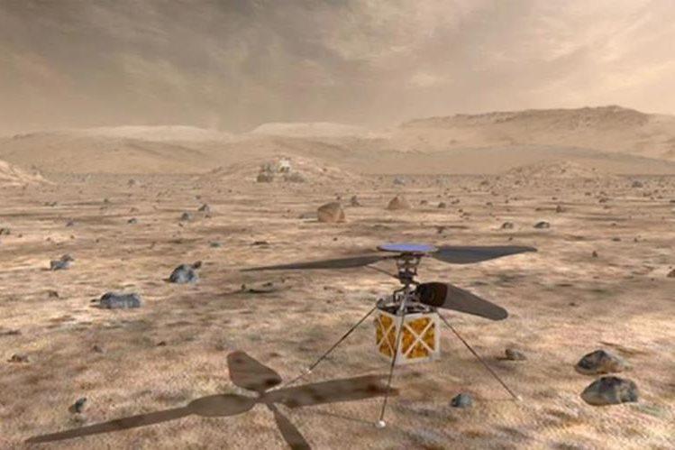 NASA enviará helicóptero a Marte