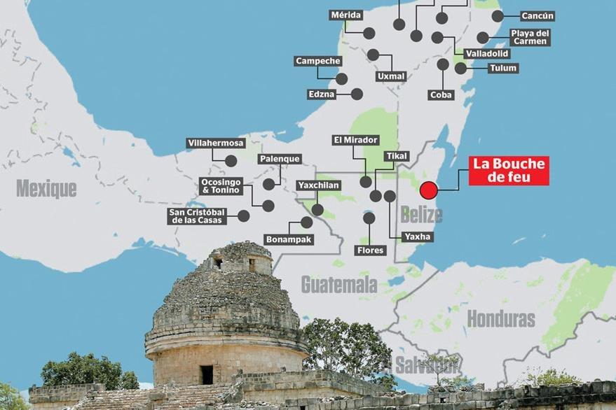 Supuesta ubicación de la ciudad maya que descubrió el canadiense William Gadoury. (Foto Prensa Libre: Tomada de Journal de Montréal)