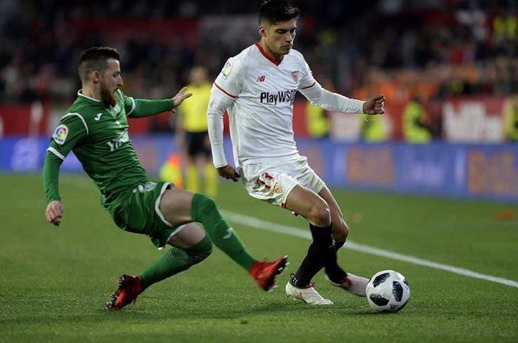 El cuadro sevillista sentenció la serie con un 2-0 frente al Leganés (3-1 en el global). (Foto Prensa Libre: AFP).
