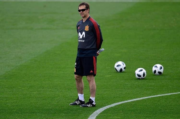 Lopetegui se hará cargo del plantel madridista después del Mundial de Rusia. (Foto Prensa Libre: EFE)
