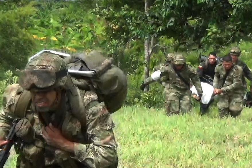 El conflicto armado interno en Colombia ha dejado al menos 220 mil muertos en 50 años. (Foto Prensa Libre: AFP).