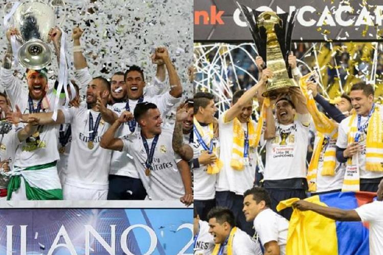 El Real Madrid campeón de Europa, podría enfrentarse contra el América de México, campeón de Concacaf, en la semifinal del mundial de clubes. (Foto Prensa Libre: Hemeroteca)