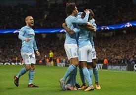 El City celebra en la tercera jornada de la Liga Campeones de Europa.