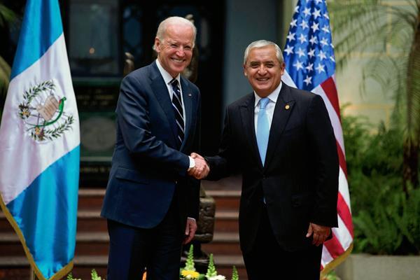 Vicepresidente Joe Biden durante la visita que hizo a Guatemala en marzo de 2015. (Foto Prensa Libre: HemerotecaPL)