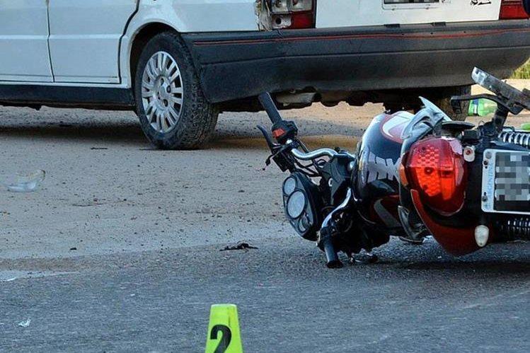 La Policía encontró en la ruta, en el lugar del choque, la motocicleta de Víctor Leiva.
