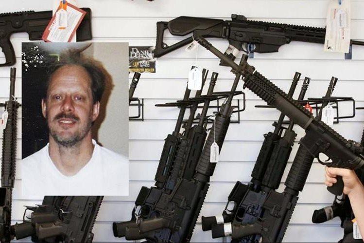 El atacante de Las Vegas, Stephen Paddock, (inserto) tenía múltiples armas. (Foto, Prensa Libre: Hemeroteca PL)