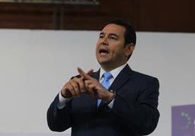 De la pantalla grande a un escritorio, Morales busca ganar la presidencia del país. (Foto Prensa Libre: Estuardo Paredes)