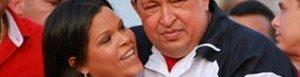 María Gabriela Chávez y su padre.