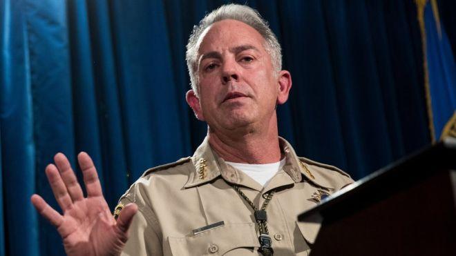El alguacil de Las Vegas brindó nuevas informaciones sobre el autor del tiroteo del domingo. GETTY IMAGES