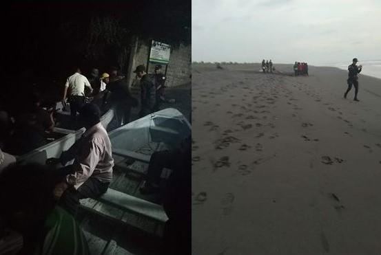 Playa donde se registró la tragedia, en La Blanca, San Marcos. (Foto Prensa Libre: Cortesía Sebastián Orozco).