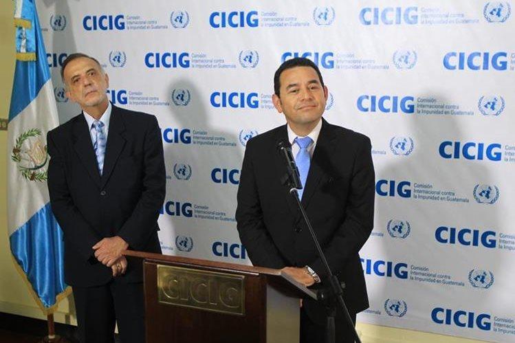 Iván Velásquez, jefe de la Cicig, ha recibido el respaldo de sectores de la sociedad civil; mientras, el presidente Jimmy Morales ha intentado expulsarlo del país. (Foto HemerotecaPL)