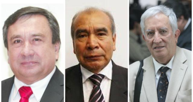 Los diputados Julio César Longo, José de la Cruz Cotzal Mijangos y Oliverio García Rodas, cambiaron de bancadas. (Foto Prensa Libre: Hemeroteca)