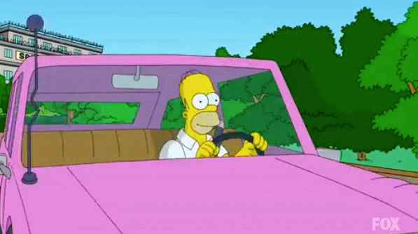 El automóvil de Homero Simpson ya no es de un modelo desconocido. (Foto Prensa Libre: Hemeroteca PL)