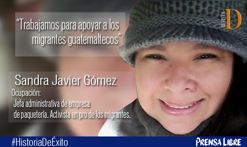 La empresa Paquetemex, propiedad de Sandra Javier Gómez, ofrece servicio de paquetería y mensajería en varias ciudades de EE. UU. (Foto Prensa Libre: Cortesía).