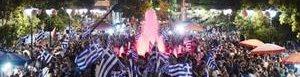 Griegos celebran el no.