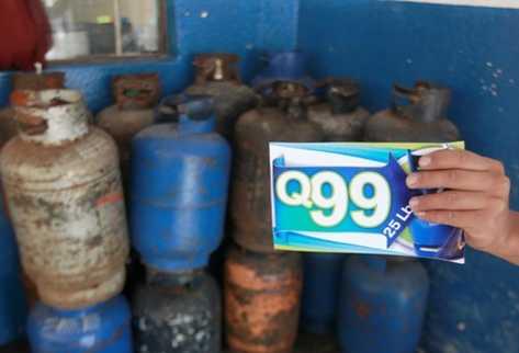 Libra de propano se incrementa en Q3.96, y galón  de gasolinas también se encarece.