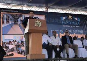 Jimmy Morales participó en una actividad en Jutiapa, horas antes de llegar a Zacapa, donde tuvo complicaciones de salud. (Foto Prensa Libre: SCSPR)