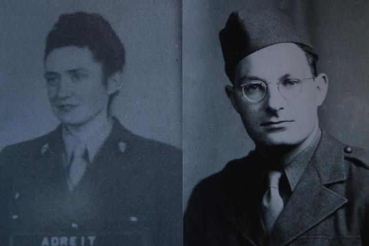 Pierre y Laure, durante sus años de servicio en la Segunda Guerra Mundial. (Foto: Hemeroteca PL)