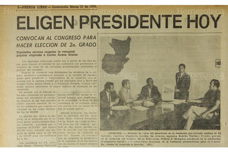 Nota del 21 de marzo de 1970, con el anuncio de convocatoria del Congreso para ratificar presidente. (Foto: Hemeroteca PL)