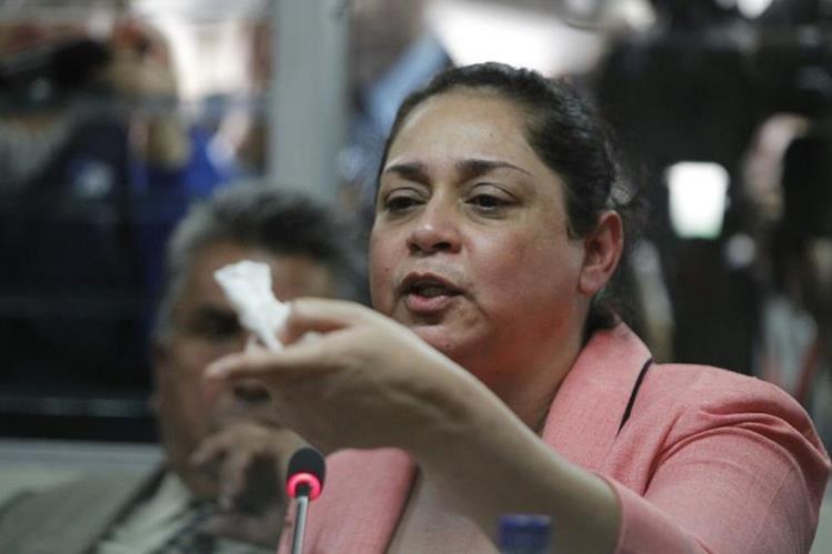 La jueza Jisele Reinoso fue ligada a proceso penal y enviada a prisión preventiva señalada por corrupción, (Foto Prensa Libre: Paulo Raquec)
