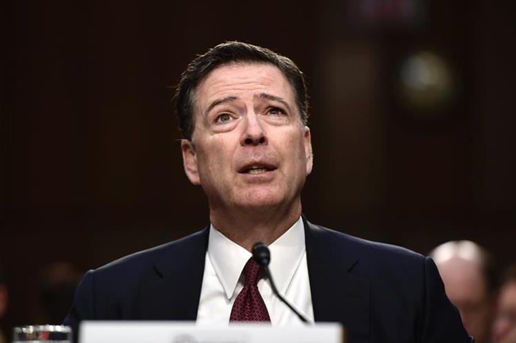 James Comey, exdirector del FBI, ante el Senado de EE. UU. (Foto Prensa Libre: AFP)