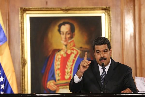 Nicolás Maduro habla en un evento de gobierno en Caracas,Venezuela.(EFE).