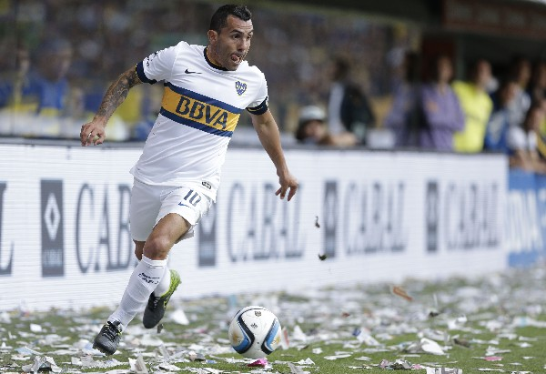 Carlos Tevez fue fundamental para el título de Boca Juniors. (Foto Prensa Libre: AP)