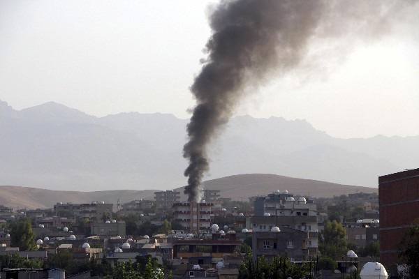 <em>La aviación turca bombardea posisicones de rebeldes kurdos.</em>