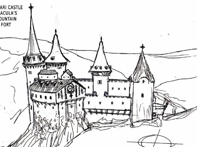 Artistas han tratado de reconstruir a través de dibujos el aspecto que pudo haber tenido el castillo original de Drácula, en Rumania.