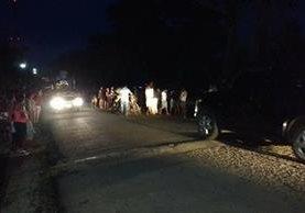 Lugar donde fue asesinado el piloto del microbús en Jutiapa. (Foto Prensa Libre: Radio Jutiapa).